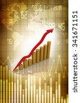 graph rising | Shutterstock . vector #341671151