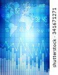 2d business graph background | Shutterstock . vector #341671271