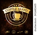 gold coffee label. premium... | Shutterstock .eps vector #341682605