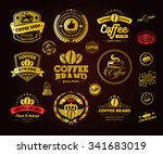set of vintage retro coffee... | Shutterstock .eps vector #341683019