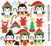 Christmas Penguin Vector...