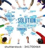solution solve problem strategy ...   Shutterstock . vector #341700464