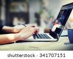 business corporate focusing... | Shutterstock . vector #341707151