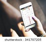 calender planner organization... | Shutterstock . vector #341707205