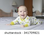 smiling happy baby child  | Shutterstock . vector #341709821
