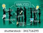 analysis strategy study...   Shutterstock . vector #341716295