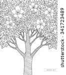 forest apple tree flowers.... | Shutterstock .eps vector #341723489