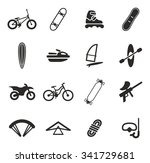 extreme sports icons  | Shutterstock .eps vector #341729681