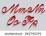 ribbon typography font typeface ... | Shutterstock .eps vector #341742191