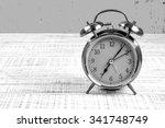retro alarm clock with retro...   Shutterstock . vector #341748749