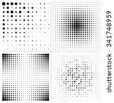 set halftone square design... | Shutterstock .eps vector #341748959