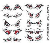 cartoon eye expressions | Shutterstock .eps vector #341750951