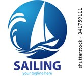 vector shape sailing boat for... | Shutterstock .eps vector #341759111