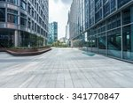 empty ground front of modern... | Shutterstock . vector #341770847