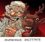 alternative christmas  drunk... | Shutterstock .eps vector #341777975