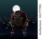 devil santa claus devil santa... | Shutterstock .eps vector #341777981