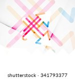 abstract square banner template ... | Shutterstock .eps vector #341793377