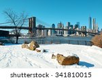 Brooklyn Bridge Closeup With...