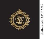 ee initial luxury ornament... | Shutterstock .eps vector #341816735