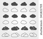 cloud icon and shapes set.... | Shutterstock .eps vector #341822705