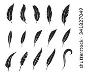feather icon. feather writing... | Shutterstock .eps vector #341827049