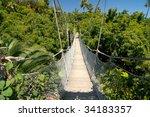 bridge inside tropical jungle | Shutterstock . vector #34183357