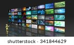 video streaming as technology... | Shutterstock . vector #341844629