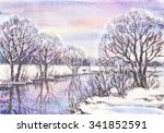 Watercolor Painting  Winter...