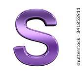 one letter from shiny purple... | Shutterstock . vector #341853911