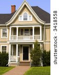 a very nice two storey wooden... | Shutterstock . vector #3418558