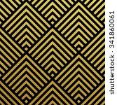 geometric gold glittering... | Shutterstock .eps vector #341860061