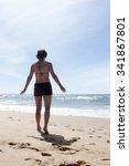 woman on the beach | Shutterstock . vector #341867801