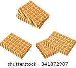 wafer set | Shutterstock .eps vector #341872907