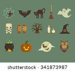 set of vector flat design...   Shutterstock .eps vector #341873987