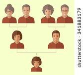 cartoon family tree  vector... | Shutterstock .eps vector #341883179