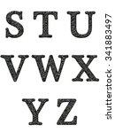 alphabet letters  isolated on... | Shutterstock . vector #341883497