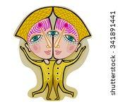 gemini   decorative zodiac sign | Shutterstock .eps vector #341891441