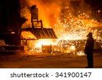 Steelworker Near A Blast...