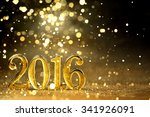 new year decoration closeup on... | Shutterstock . vector #341926091