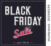 black friday sale banner on ... | Shutterstock .eps vector #341940194