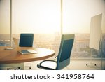conference room with wooden... | Shutterstock . vector #341958764