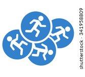 running men vector icon. style... | Shutterstock .eps vector #341958809