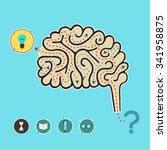 path of idea. vector... | Shutterstock .eps vector #341958875