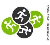 running men vector icon. style... | Shutterstock .eps vector #341970527