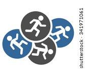 running men vector icon. style... | Shutterstock .eps vector #341971061