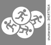 running men vector icon. style... | Shutterstock .eps vector #341977814