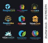 logo collection set. brad... | Shutterstock .eps vector #341980394