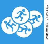 running men vector icon. style... | Shutterstock .eps vector #341981117