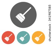 broom icon | Shutterstock .eps vector #341987585