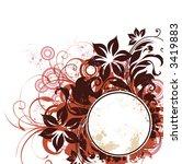 floral frame   Shutterstock .eps vector #3419883